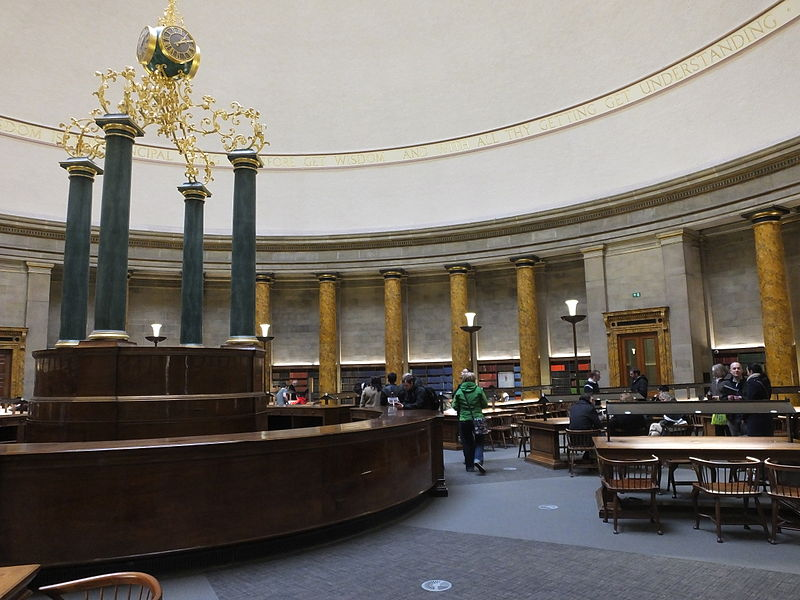 Manchester Central Library Wolfson Reading Room