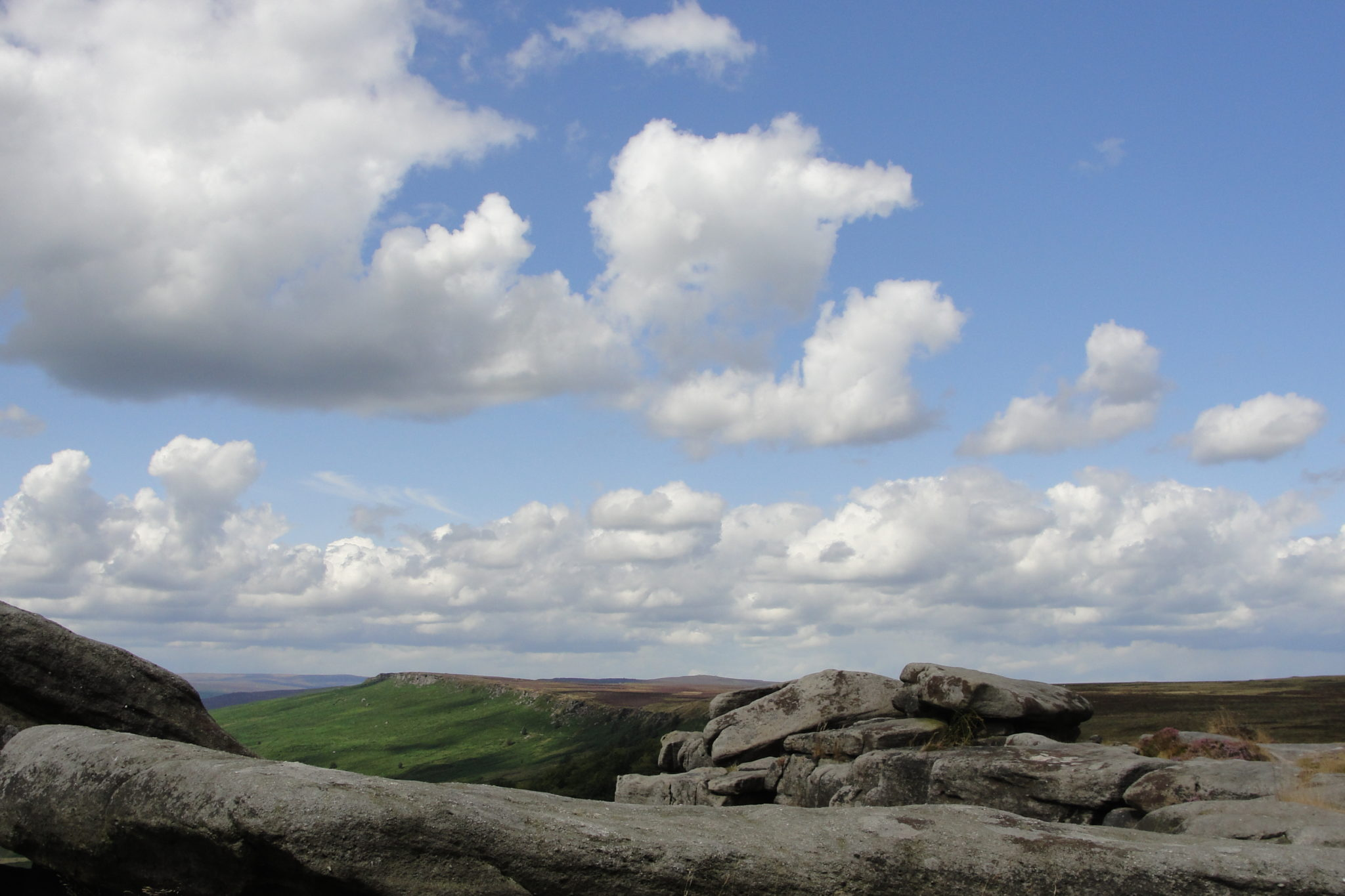 Stanage Edge in the Peak District National Park