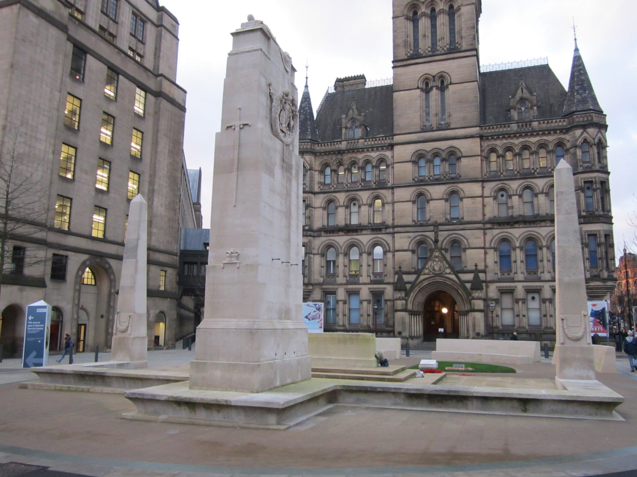 The Cenotaph at St Peter's Square Manchester