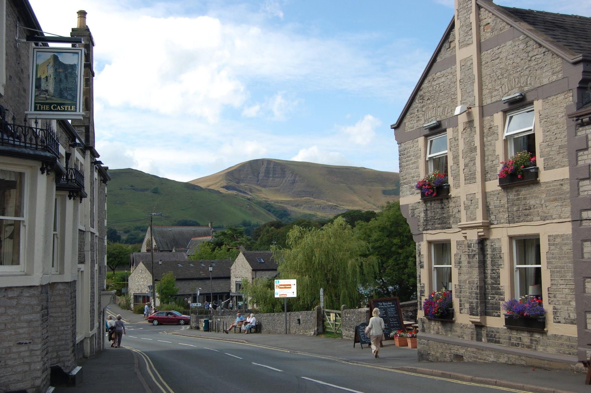 Castleton Village in the High Peak, Derbyshire