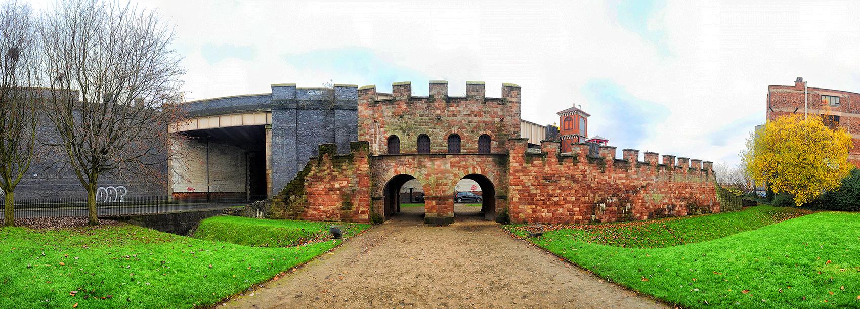 Mamucium Roman fort in Castlefield Urban Heritage Park, Manchester