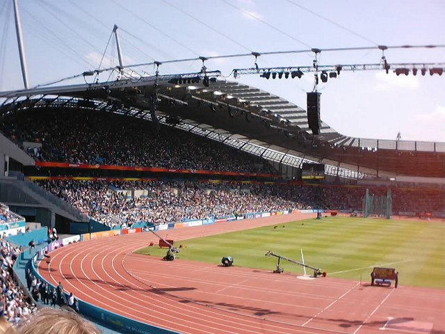 City of Manchester Stadium during 2002 Commonwealth Games