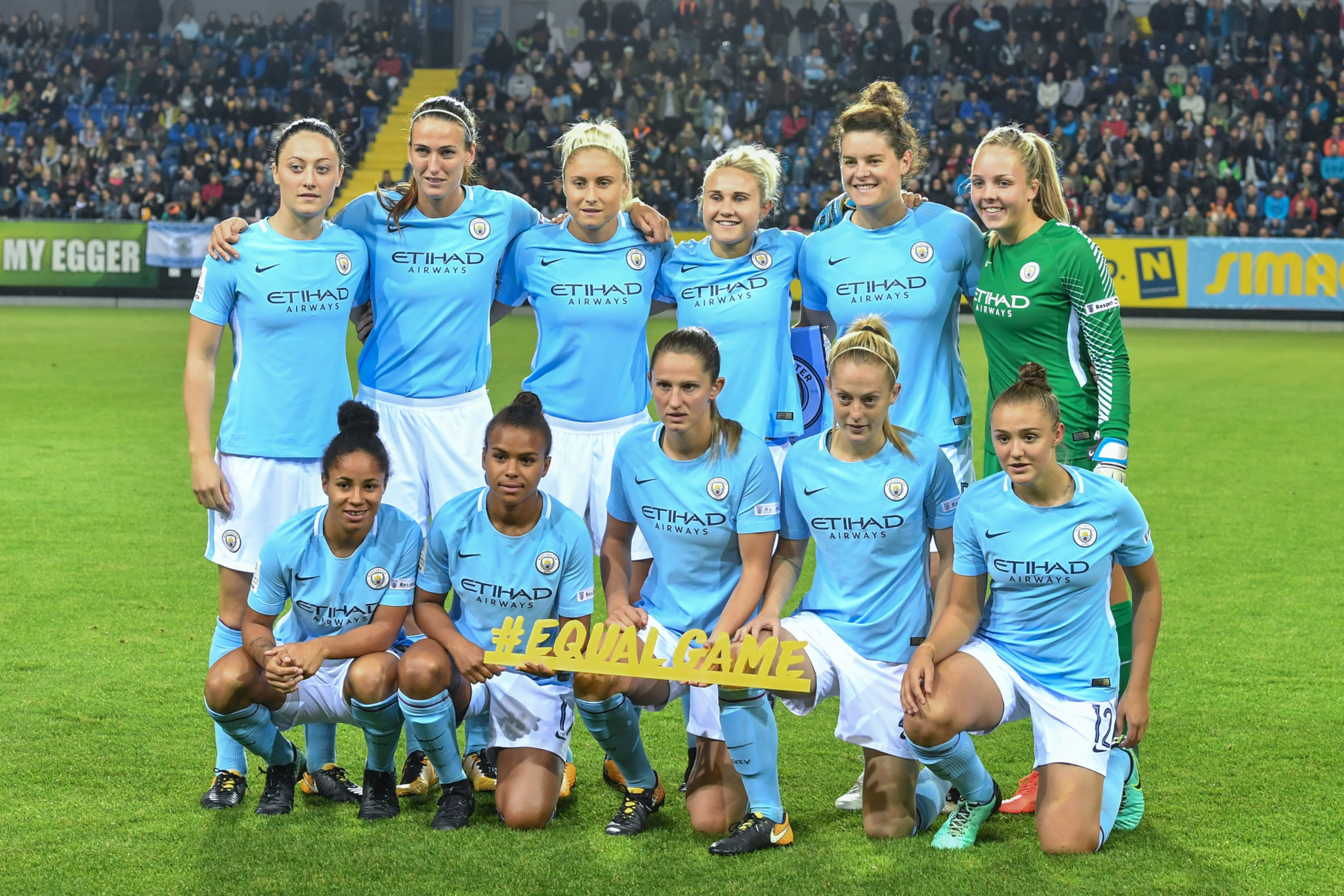Manchester City women in 2017