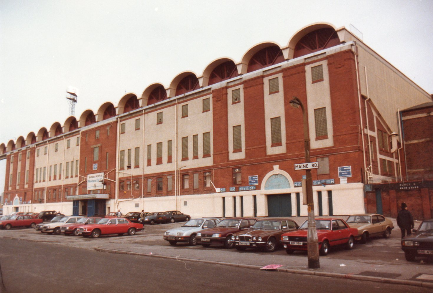 Manchester City's Maine Road ground in 1985