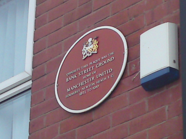 Manchester United Bank Street Ground plaque