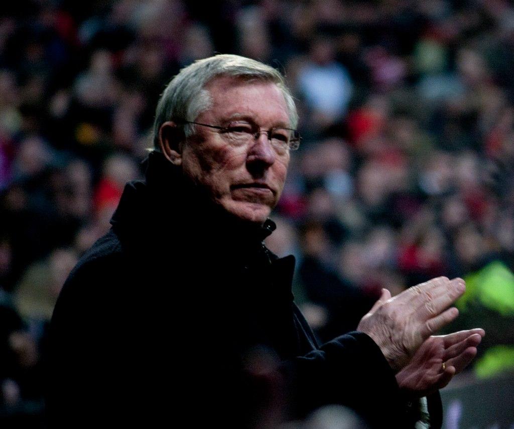 Sir Alex Ferguson managing Manchester United