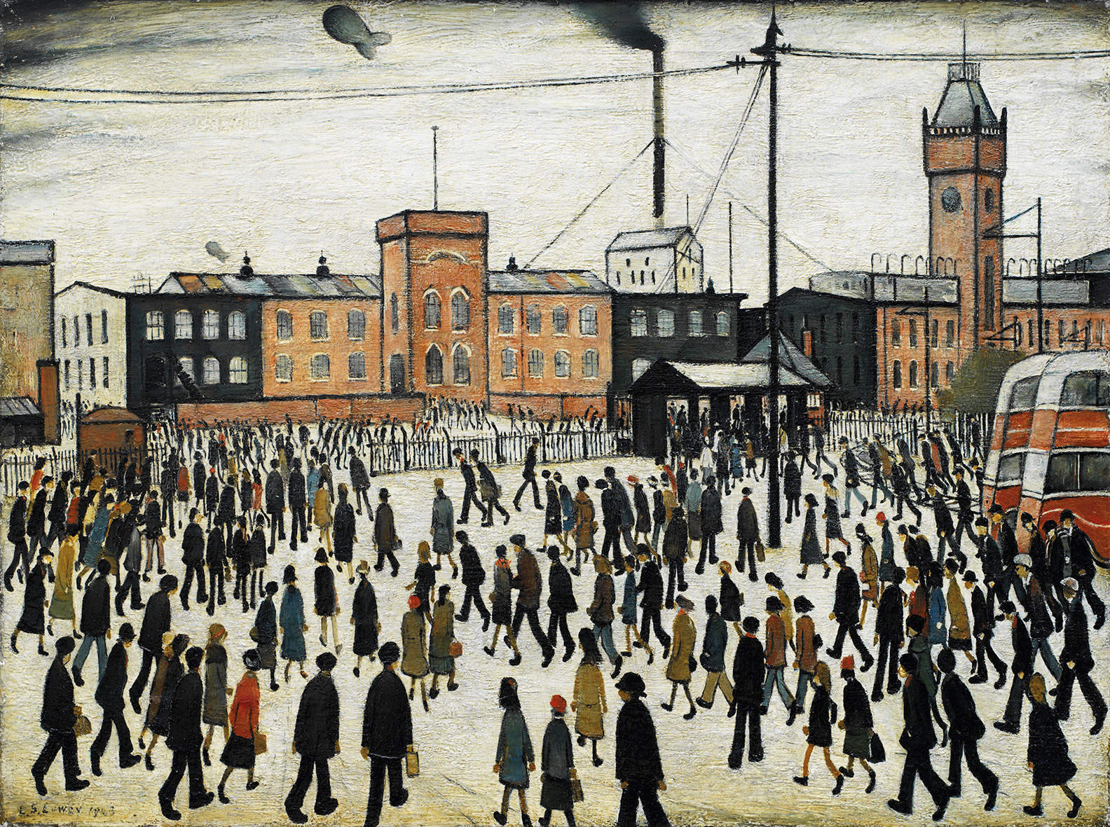 LS Lowry Going to Work painting