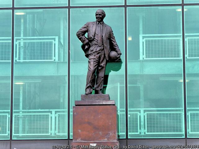 Sir Matt Busby statue at Old Trafford