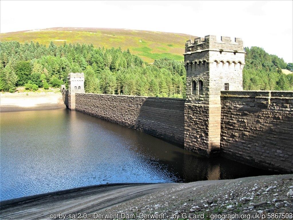 Dam at Derwent Reservoir